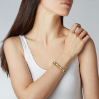 yellow gold with enamel bracelet