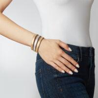 yellow white diamond bracelet