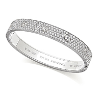 white gold pave set diamond bracelet